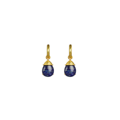 Jewel II Earrings Lapis (2 in 1 with removable charm)