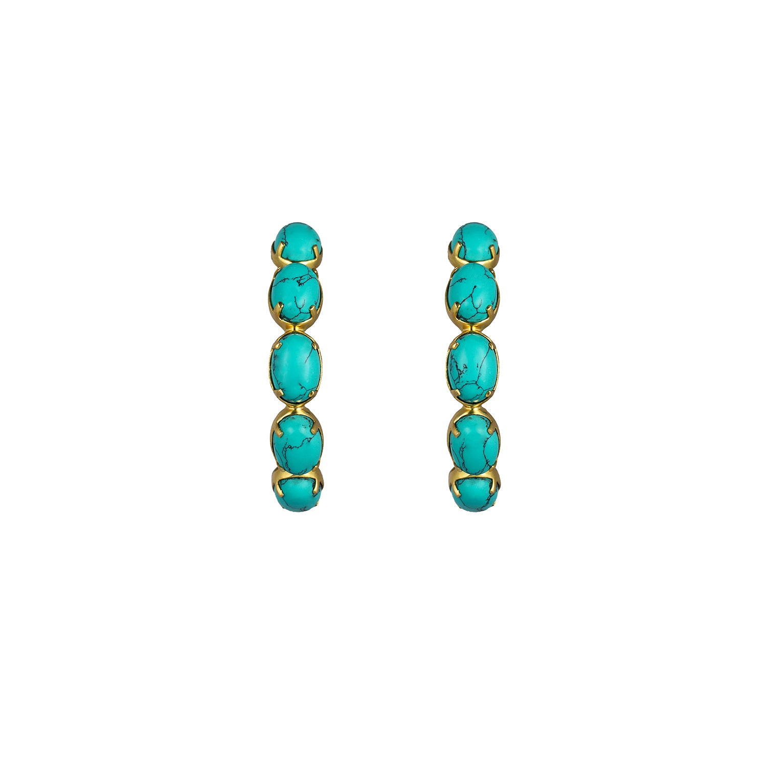 Como Earrings Turquoise