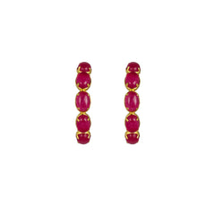 Como Earrings Pink Jade PRE ORDER