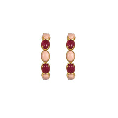 Como Earrings Pink Jade & Coral