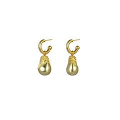 Anahita Earrings Gold (2 in 1 with removable charm)
