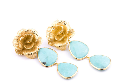Halona Earrings in Turquoise
