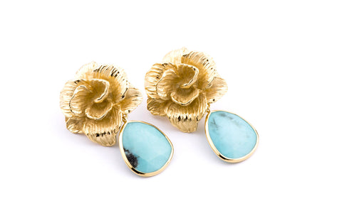 Jolie Earrings in Turquoise