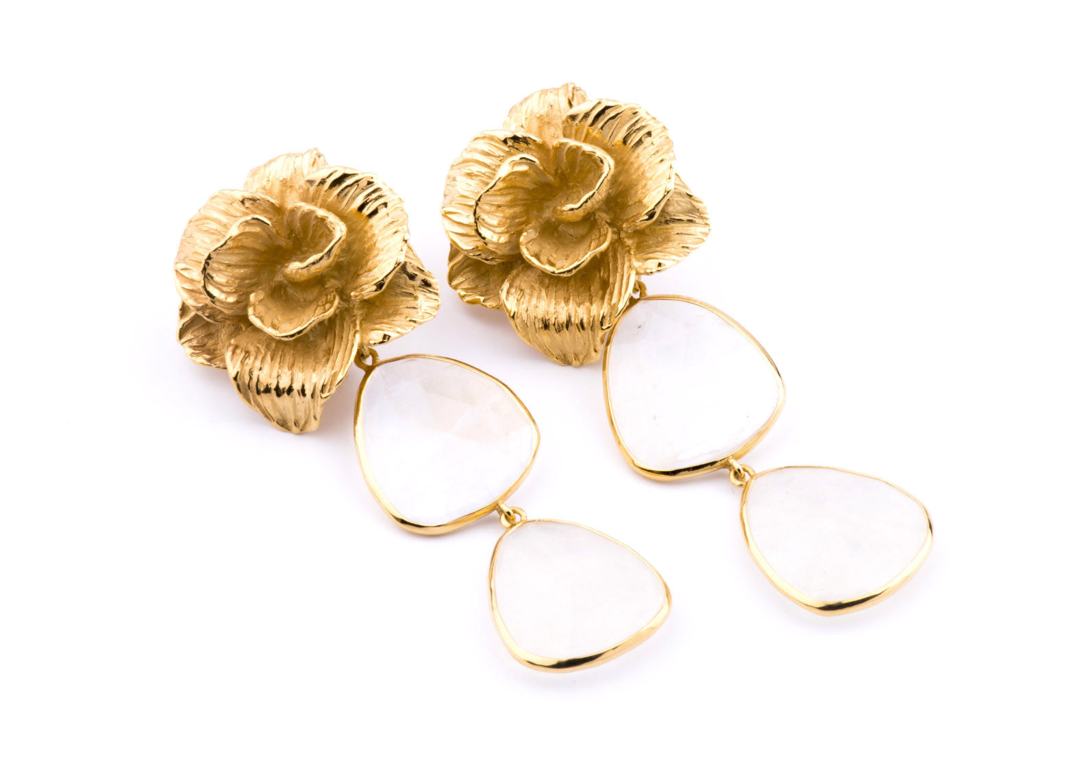 Halona Earrings in Moonstone