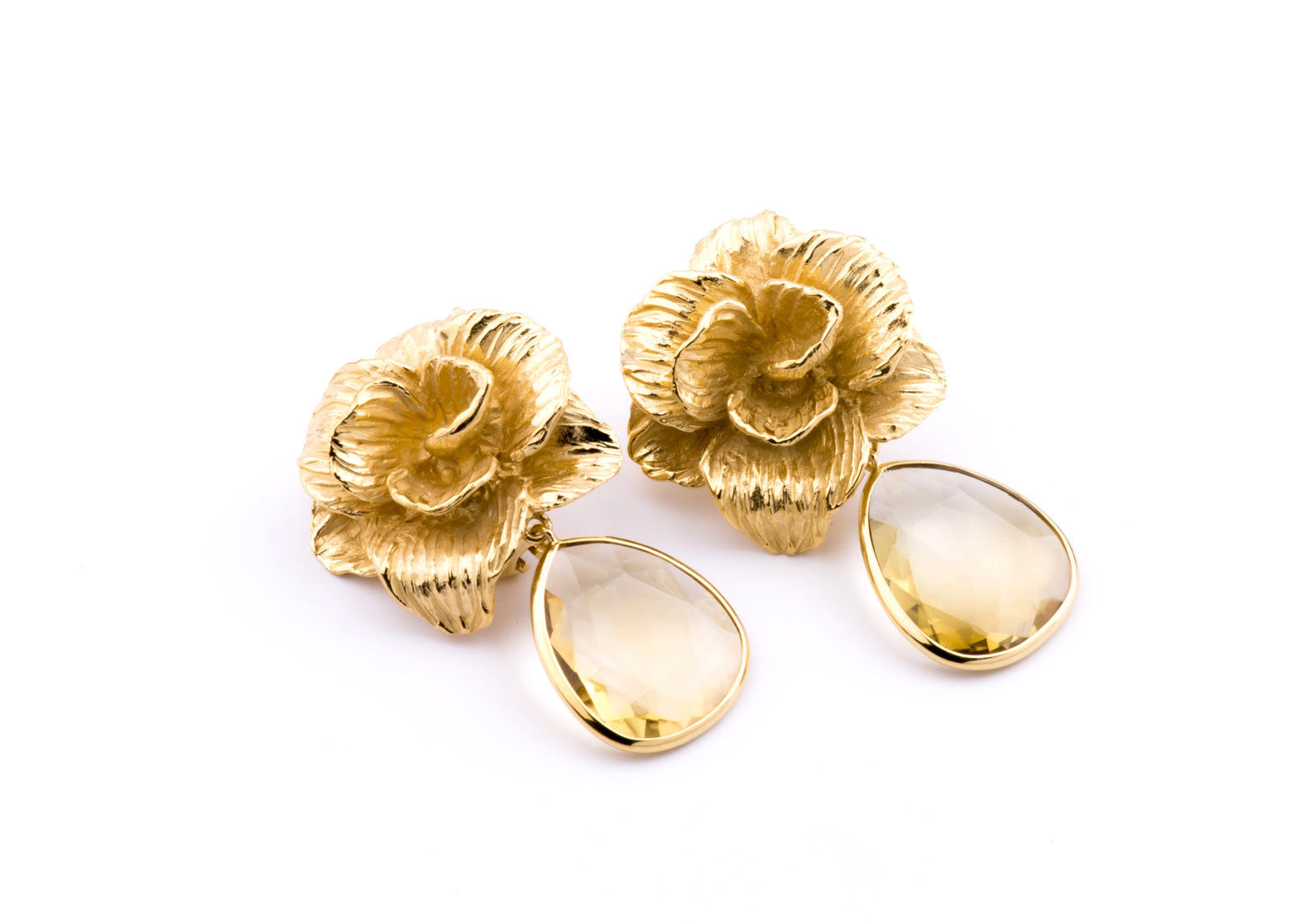 Jolie Earrings in Citrine