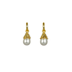 Anahita Earrings Pearl (2 in 1 with removable charm)