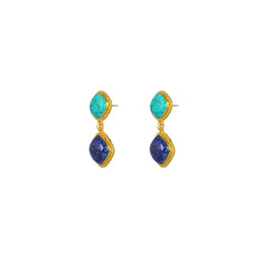 Hali Earrings Lapis & Turquoise