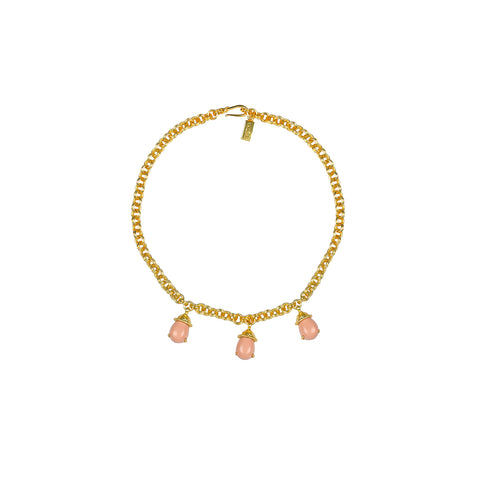 Jewel Necklace Pink Coral