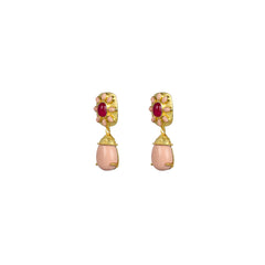 Misty Earrings Pink Jade & Pink Coral PRE ORDER