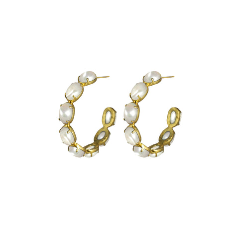 Como Earrings Pearl