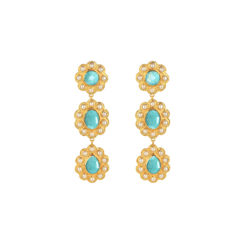 Lola Earrings Amazonite