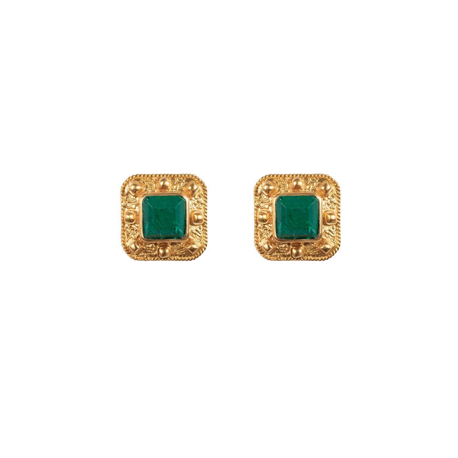 Compass Earrings Malachite (Pre-Order)