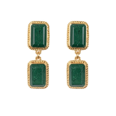 Odyssey Earrings Malachite