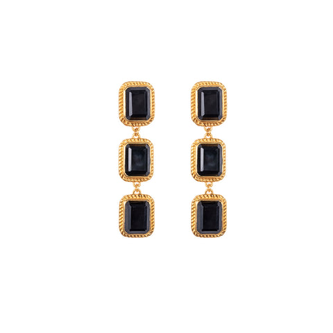 Pier Earrings Black Onyx (Pre-Order)