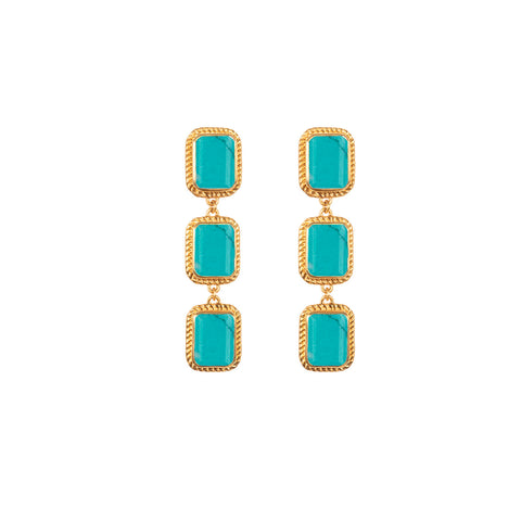 Pier Earrings Turquoise (Pre-Order)