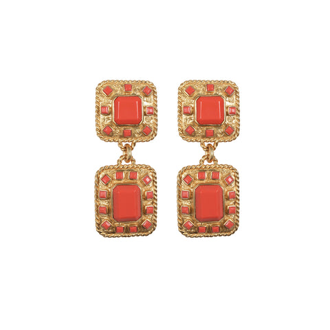 Zephyr Earrings Coral (Pre-Order)