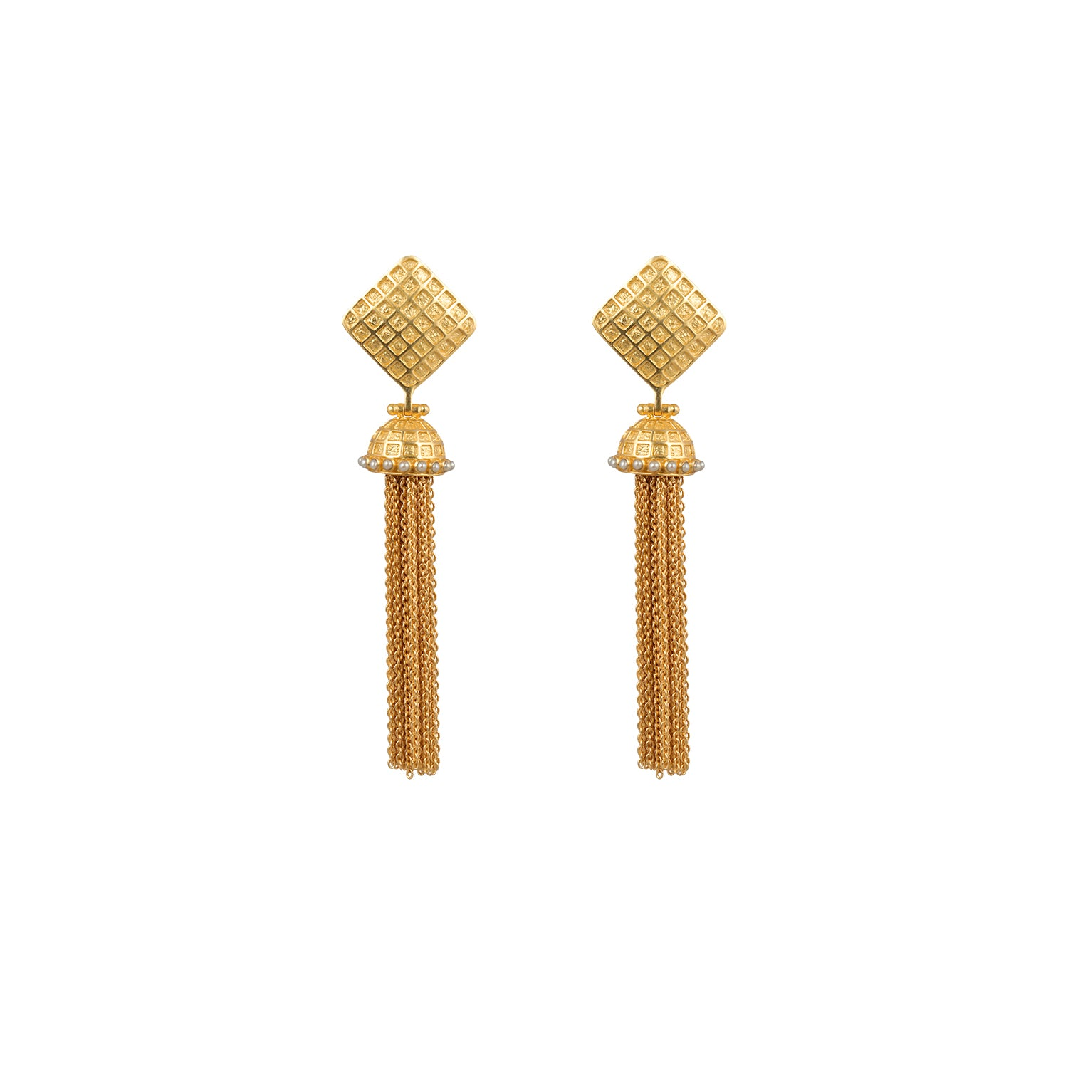 Primrose Earrings Gold & Pearls