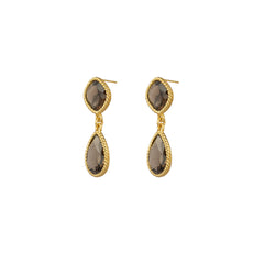 Candi Earrings Smoky Quartz