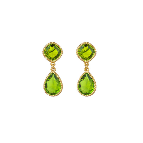 Candi Earrings Peridot Quartz
