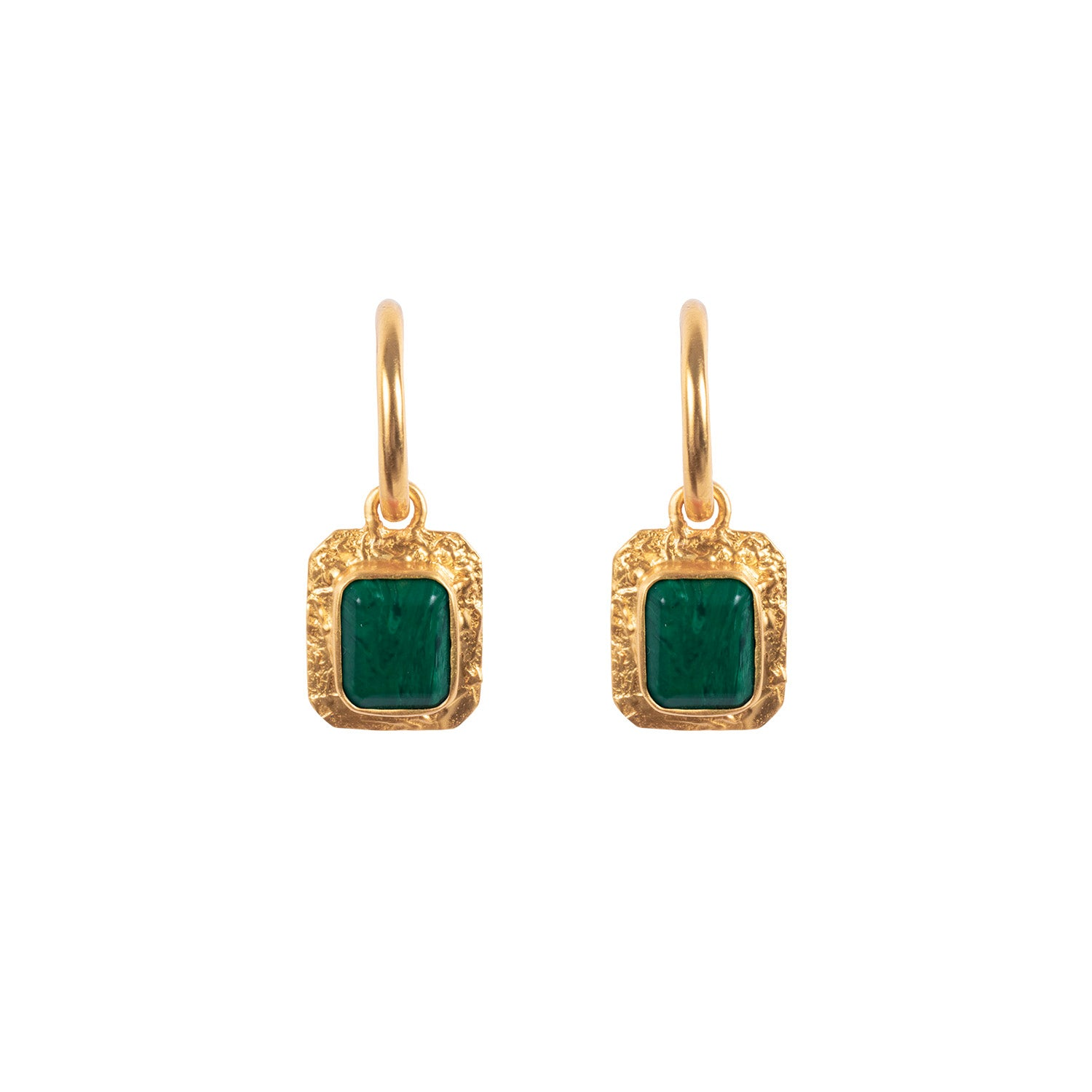 Breeze Earrings Malachite