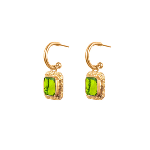 Breeze Earrings Peridot Quartz