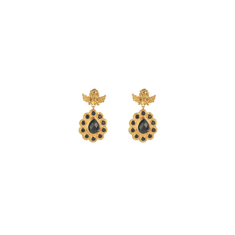 Angelique Earrings Black Onyx