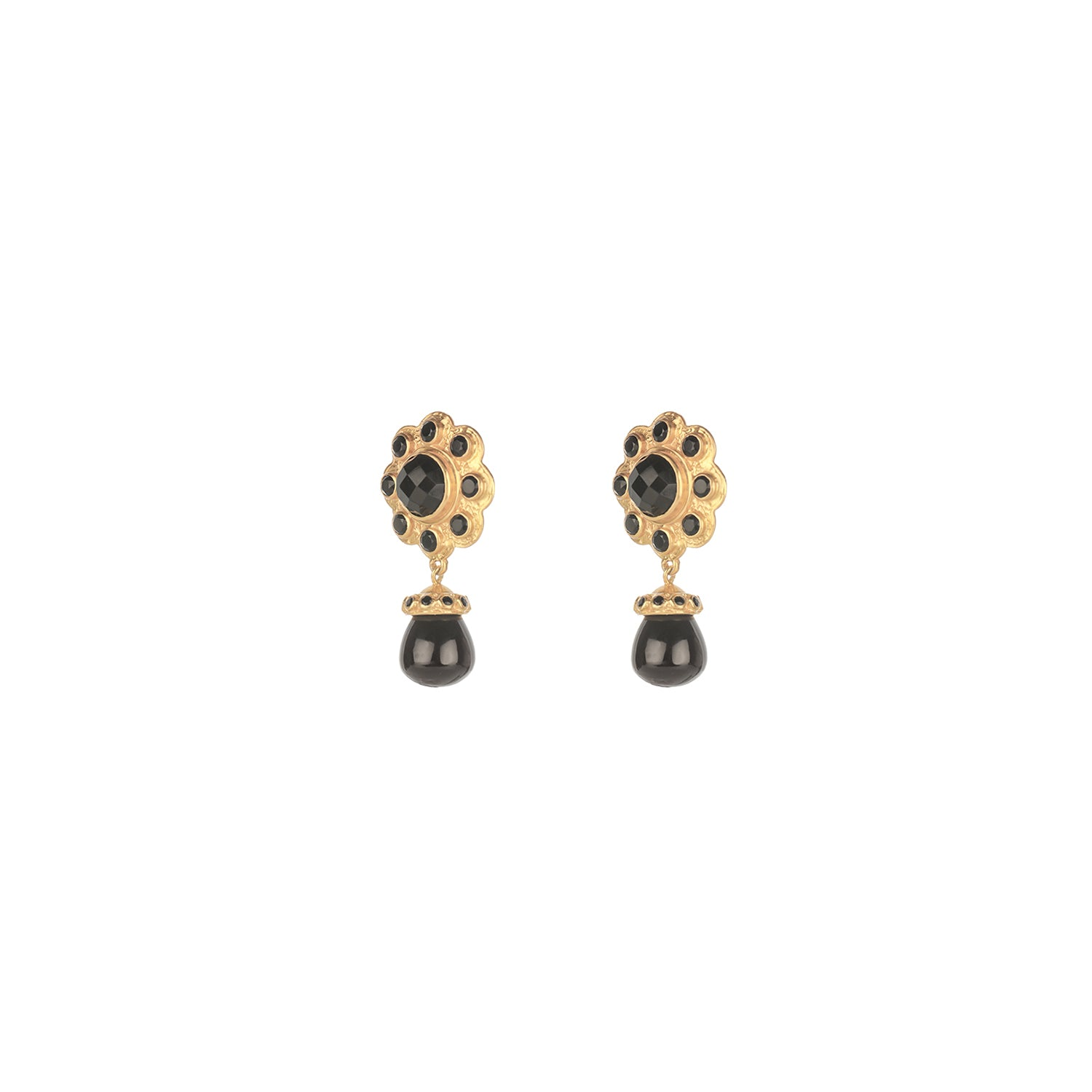 Antionette Earrings Black Onyx