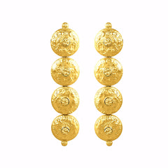 Daniella Earrings - 24k Yellow Gold Stone