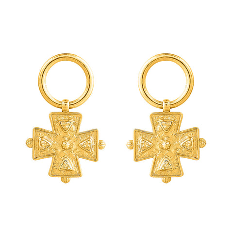 Allegra Earrings - 24k Yellow Gold Stone