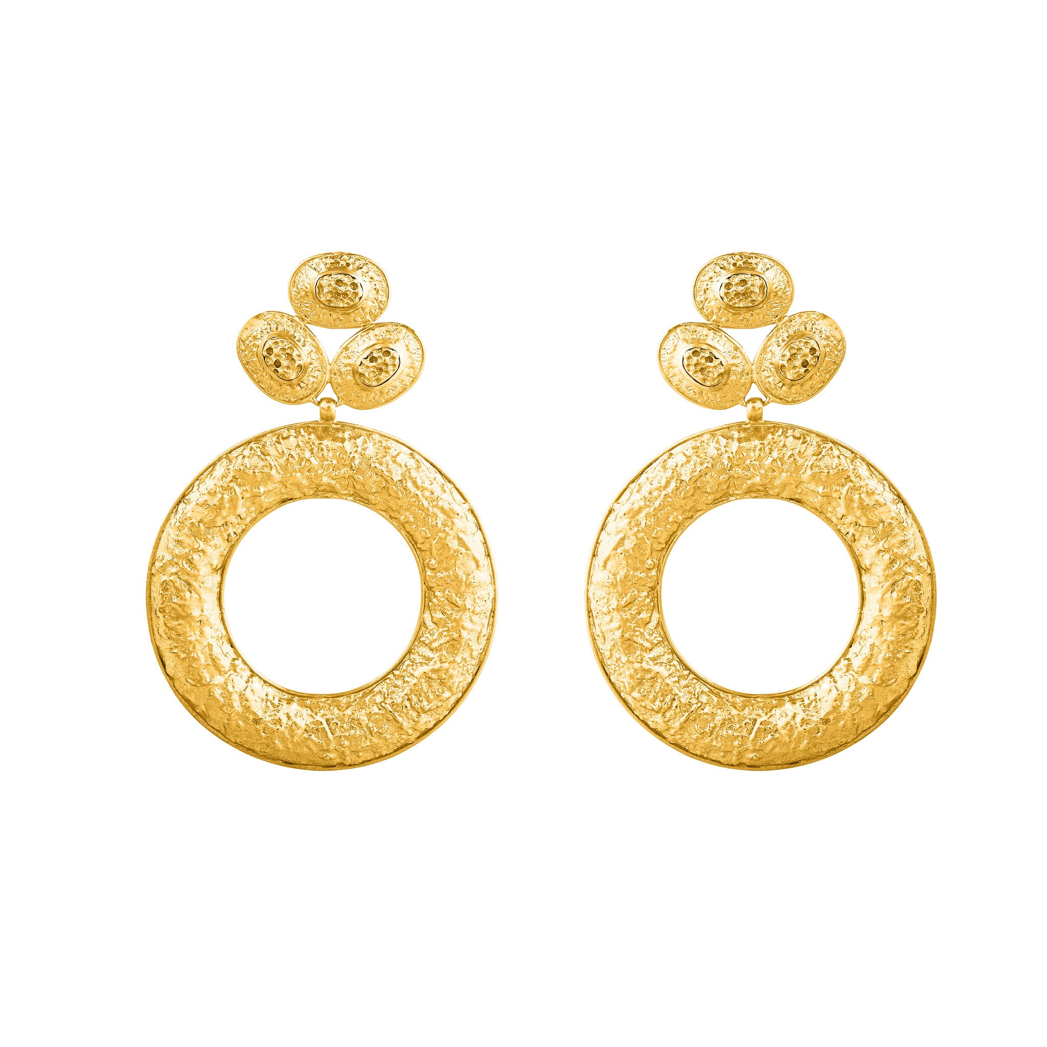 re products dolce gold earrings stone val yellow