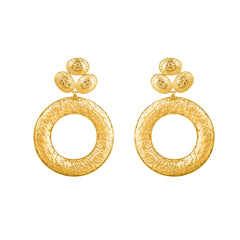 Dolce Earrings - 24k Yellow Gold Stone