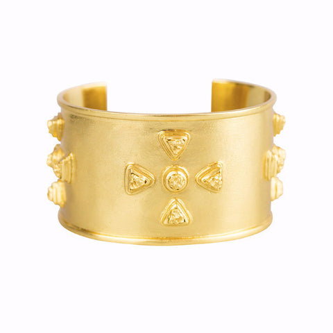 Allegra Cuff - 24k Yellow Gold Stone
