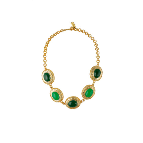 Willow Necklace Green Jade