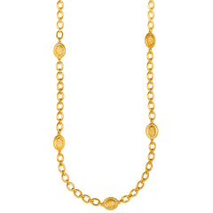 Capri Necklace - 24k Yellow Gold Stone