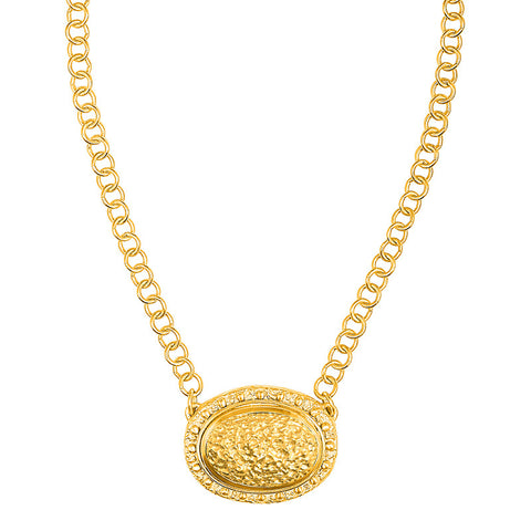 Romana Necklace - 24K Yellow Gold Stone