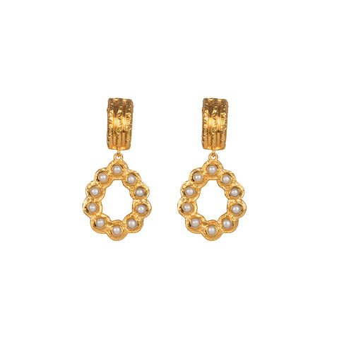 Claudette Earrings Pearl