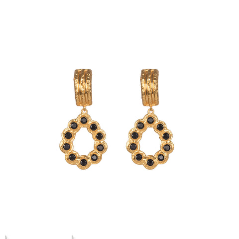 Claudette Earrings Black Onyx
