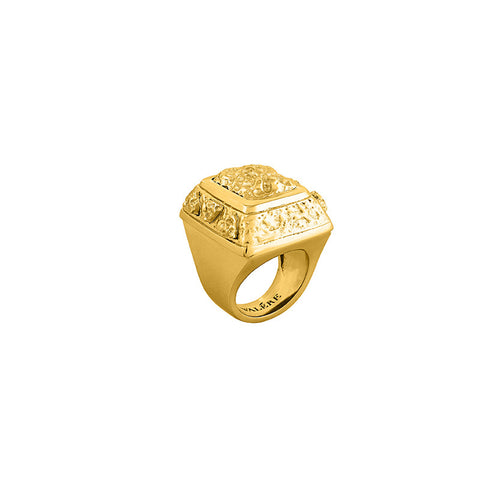 Ellisa Ring - 24k Yellow Gold Stone