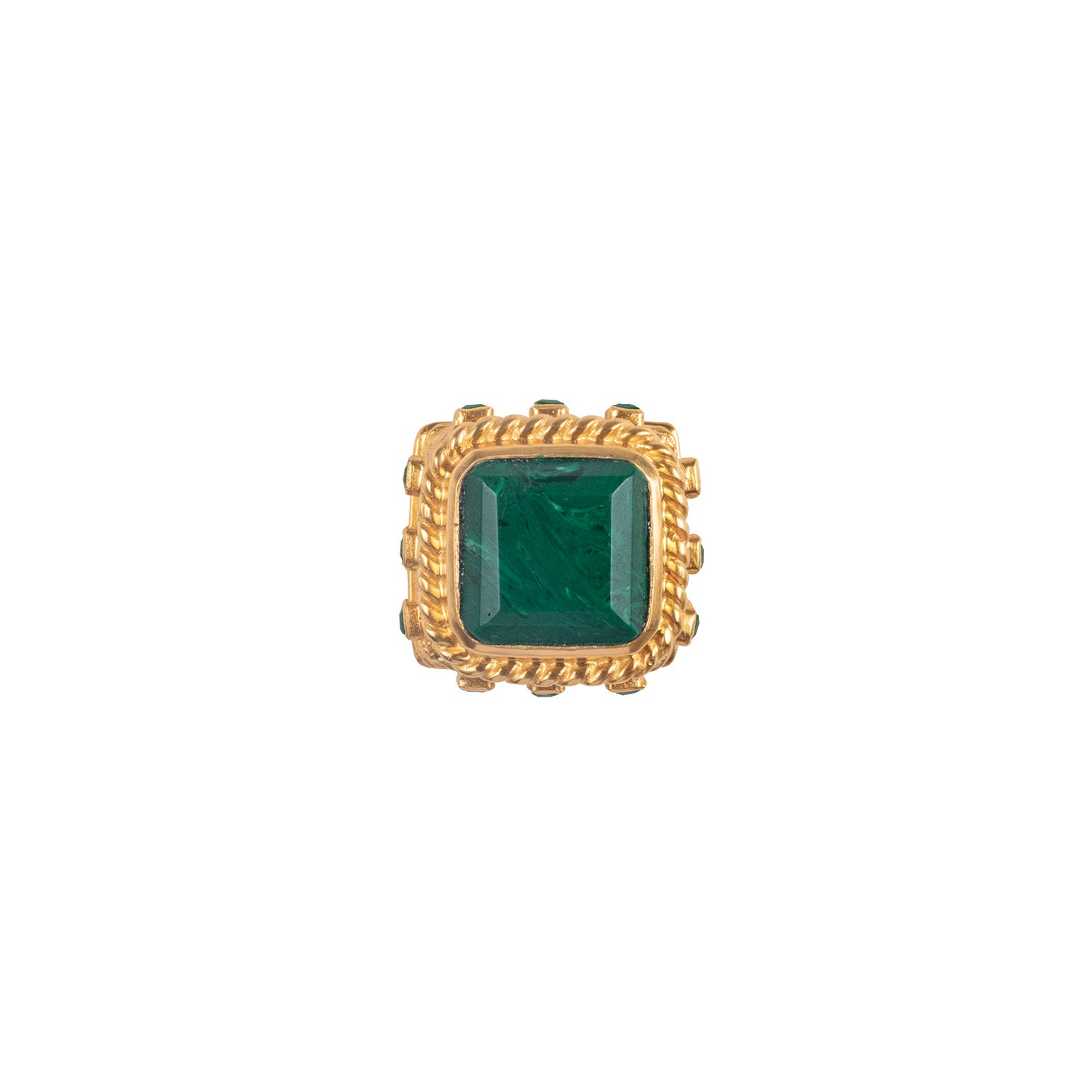 Poseidon Ring Malachite
