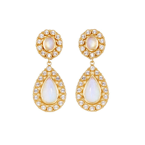 Natali Earrings in Moonstone