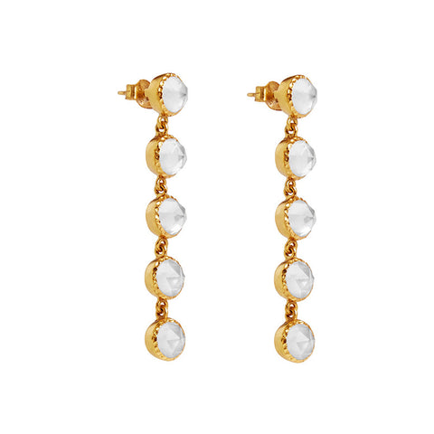 Asha Earrings in Clear Topaz