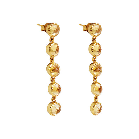 Asha Earrings in Citrine