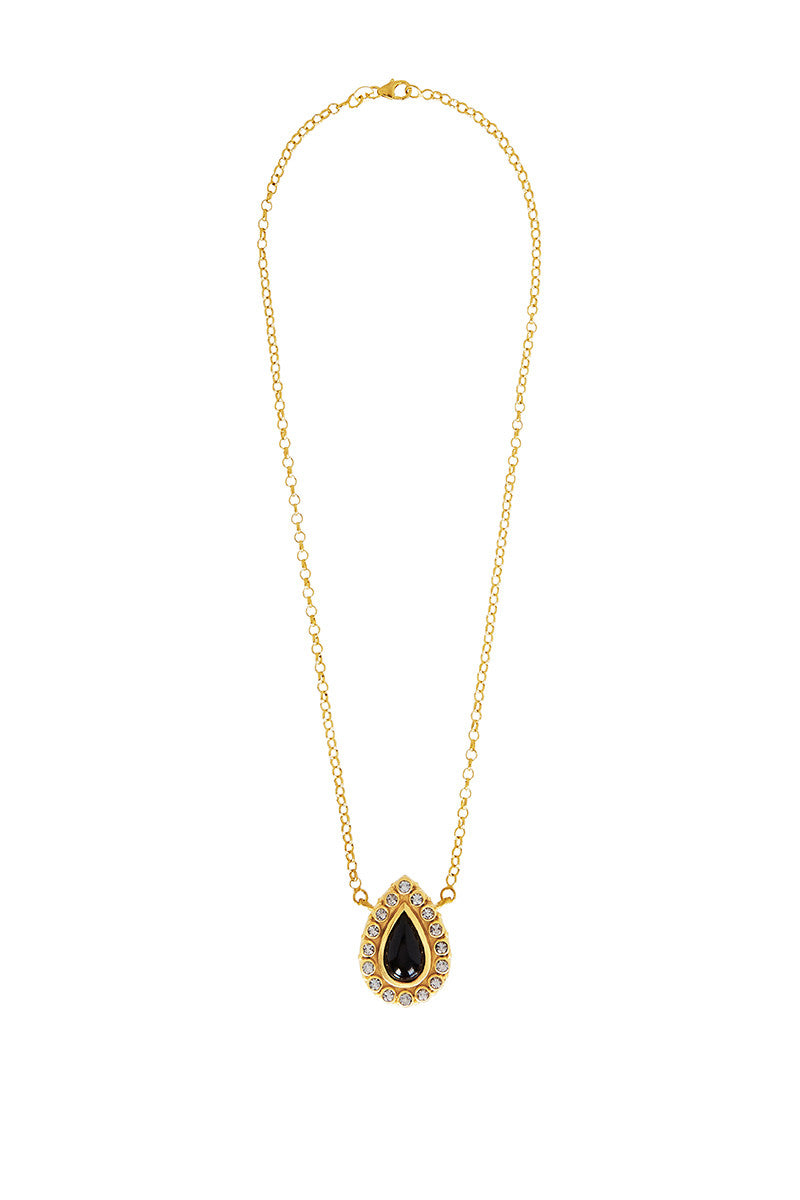 Natali Necklace in Black Onyx