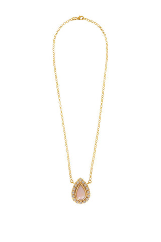 Natali Necklace in Pink Opal