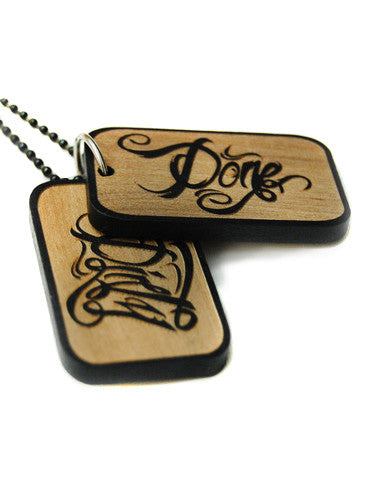 Bamboo Dog Tags