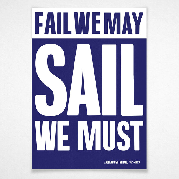 'Sail We Must' (A2)