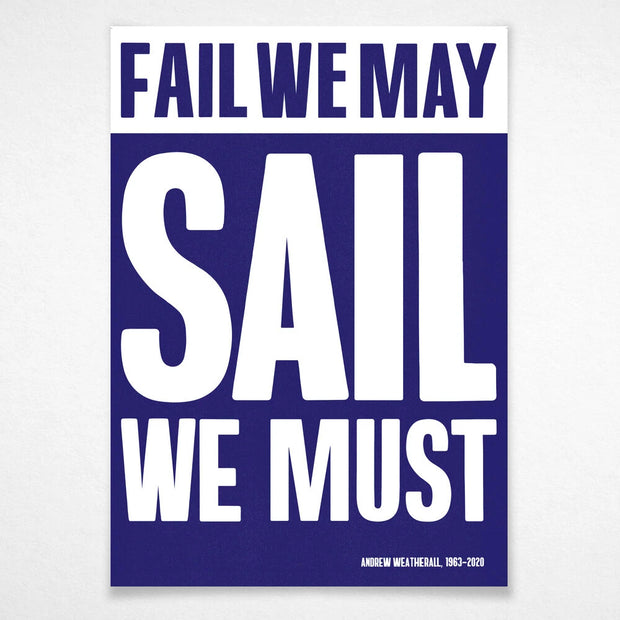 Sail We Must' (A1)