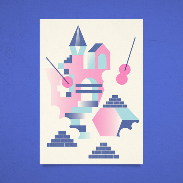 'Castle Wall' print by Baxter