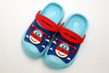 MEDIUM BOY CHARACTER RUBBER CROCS AEROPLANE (BLUE) (L.BLUE) (GREY) - 19599