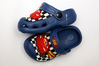 MEDIUM BOY CHARACTER RUBBER CROCS CAR (L.BLUE) (D.BLUE) - 19599